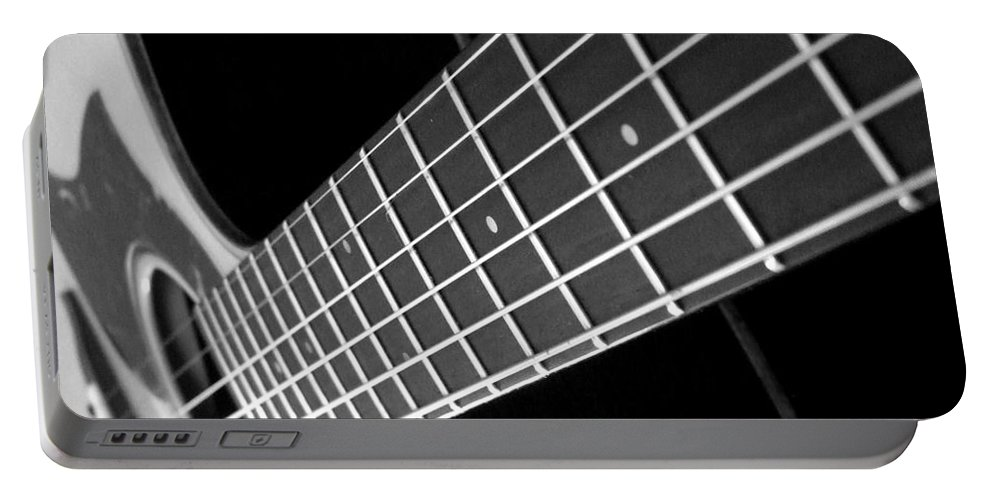 Guitar Portable Battery Charger featuring the photograph Music To My Soul by Andrea Anderegg