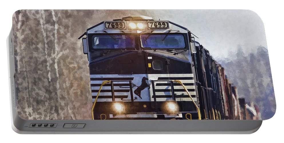 7699 Portable Battery Charger featuring the photograph Mustang 7699 by Jack R Perry
