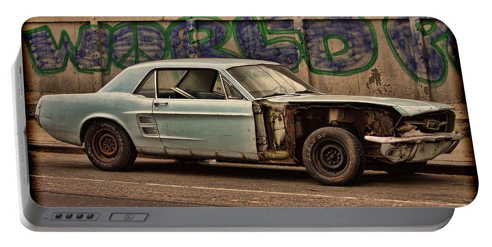 Ny Portable Battery Charger featuring the photograph Mustang Power by Rick Kuperberg Sr