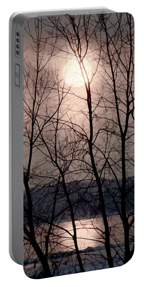 Lake Ontario Portable Battery Charger featuring the photograph Muted Sunrise by Tracy Winter