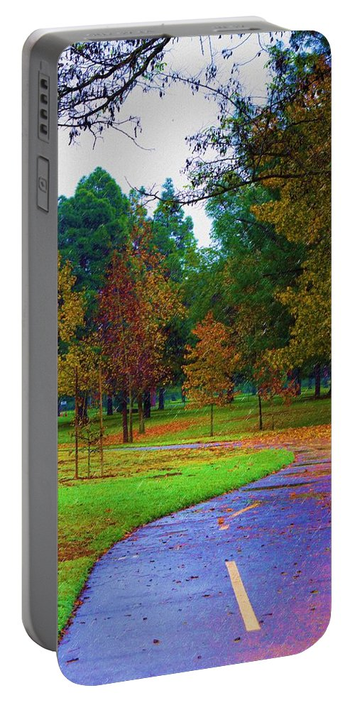America Portable Battery Charger featuring the photograph My Autumn by Heidi Smith