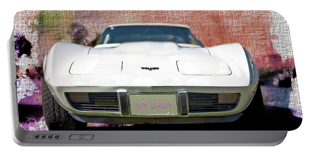 Corvette Portable Battery Charger featuring the photograph My Baby - Featured In Vehicle Enthusiasts Group by Ericamaxine Price