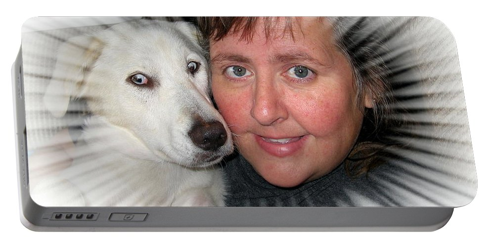 Lab Portable Battery Charger featuring the photograph My Best Buddy by Amy Hosp