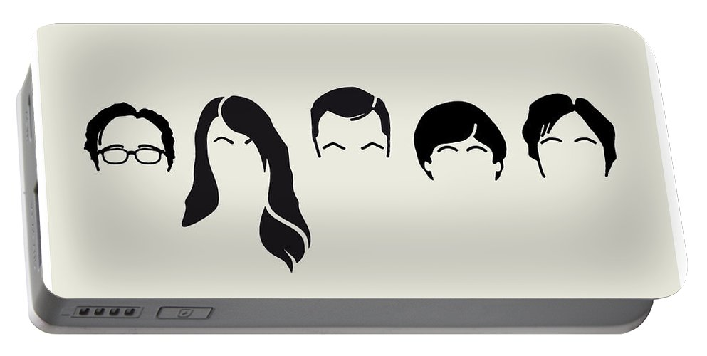Big Portable Battery Charger featuring the digital art My-big-bang-hair-theory by Chungkong Art