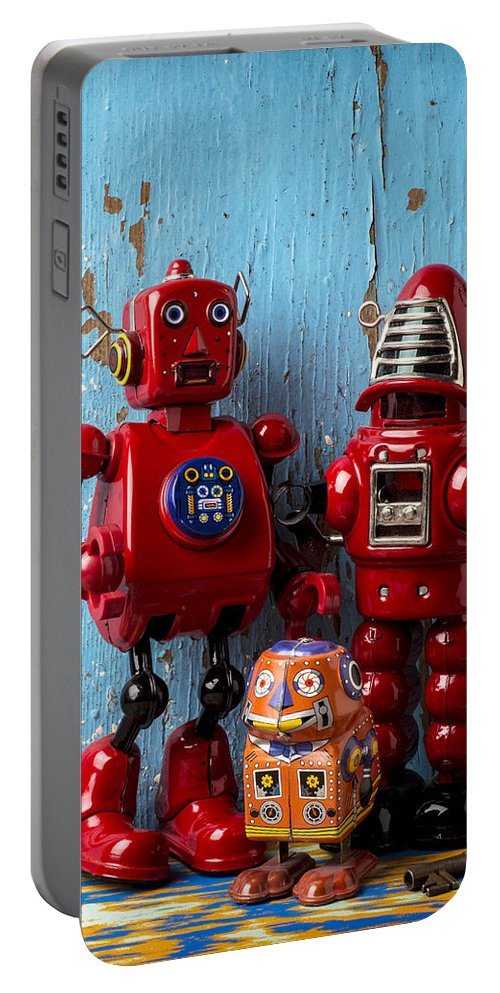 Robots Portable Battery Charger featuring the photograph My Bots by Garry Gay