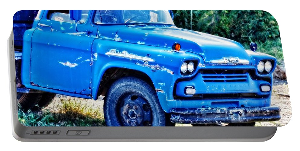 Divide Portable Battery Charger featuring the photograph My Chevrolet by Image Takers Photography LLC - Laura Morgan