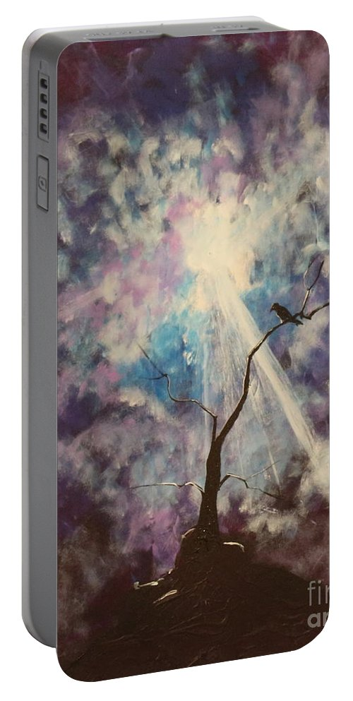 Impressionism Portable Battery Charger featuring the painting My Dream Shall Come by Stefan Duncan