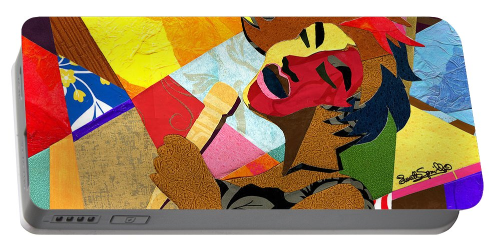 Everett Spruill Portable Battery Charger featuring the painting My Favorite Things by Everett Spruill