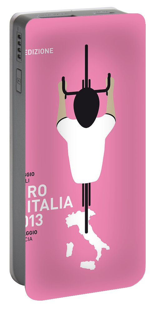 2013 Portable Battery Charger featuring the digital art My Giro D'italia Minimal Poster by Chungkong Art