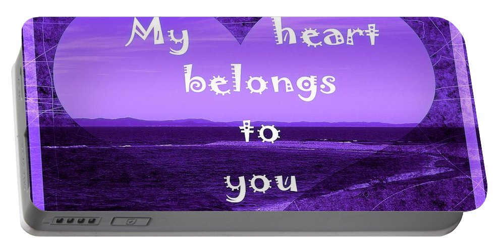 My Heart Belongs To You Portable Battery Charger featuring the photograph My Heart Belongs To You by Barbara Griffin