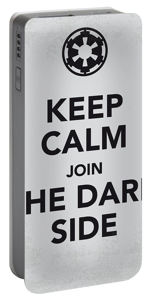 Star Portable Battery Charger featuring the digital art My Keep Calm Star Wars - Galactic Empire-poster by Chungkong Art