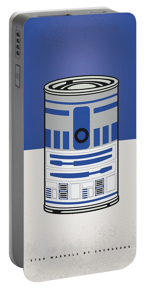Star Portable Battery Charger featuring the digital art My Star Warhols R2d2 Minimal Can Poster by Chungkong Art