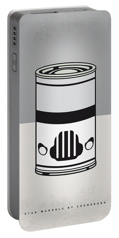 Star Portable Battery Charger featuring the digital art My Star Warhols Stormtrooper Minimal Can Poster by Chungkong Art