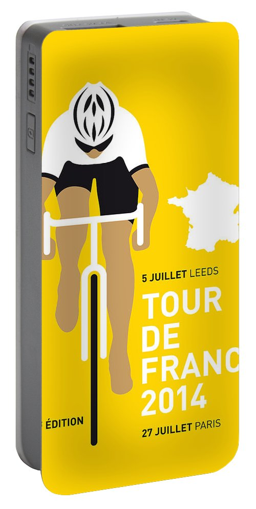 Minimal Portable Battery Charger featuring the digital art My Tour De France Minimal Poster 2014 by Chungkong Art