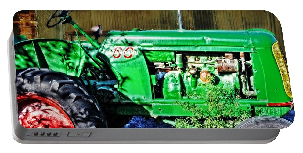 Dell Portable Battery Charger featuring the photograph My Tractor by Image Takers Photography LLC - Laura Morgan