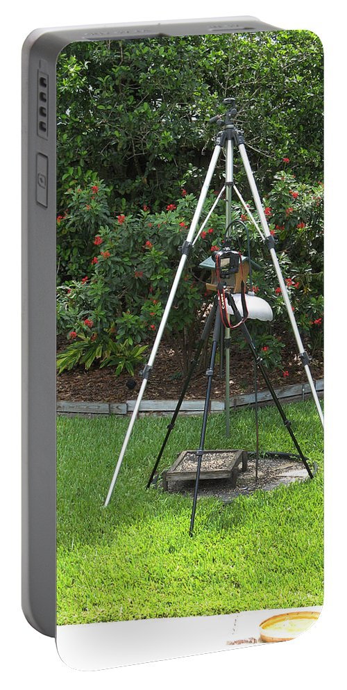 Tripods Portable Battery Charger featuring the photograph My Tripod Can Beat Up Your Tripod by Rich Franco