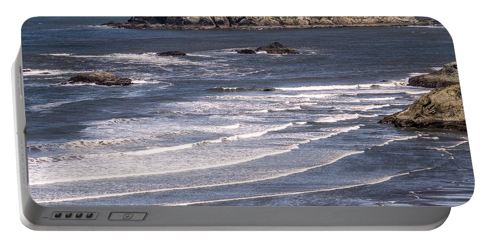 Beach Portable Battery Charger featuring the photograph Myers Beach 3 by Tracy Knauer