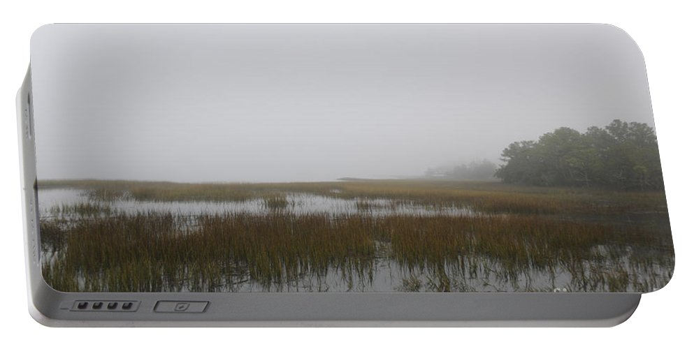 Fog Portable Battery Charger featuring the photograph Mysterious Fog by Dale Powell