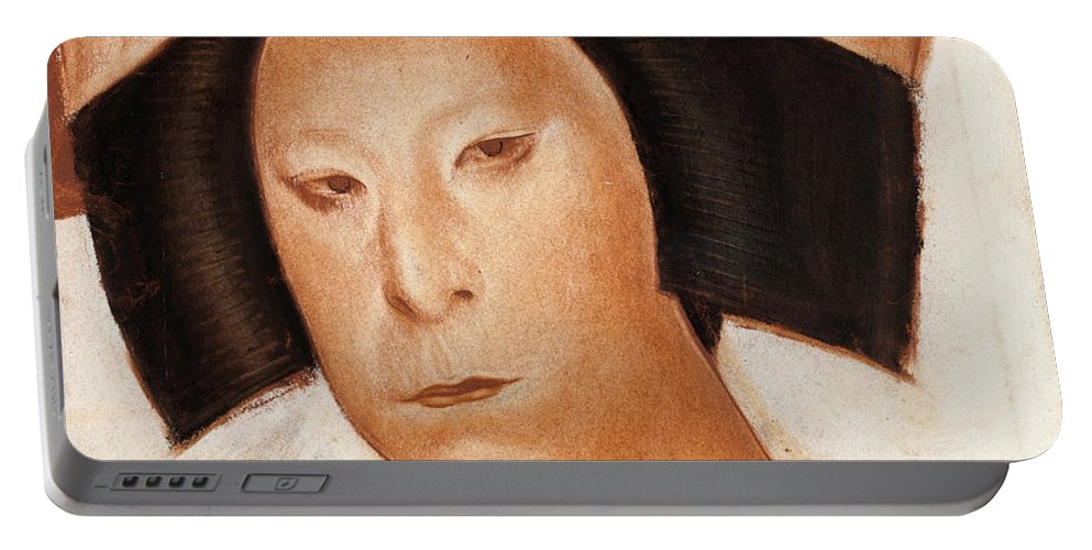 Alexander Evgenievich Yakovlev Portable Battery Charger featuring the painting Nakamura Utaemon V by Alexander Evgenievich Yakovlev
