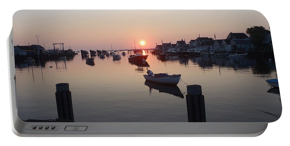 Nantucket Portable Battery Charger featuring the photograph Nantucket Sunrise 1 by Robert Nickologianis
