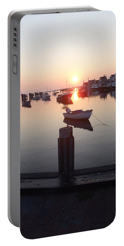 Nantucket Portable Battery Charger featuring the photograph Nantucket Sunrise 2 by Robert Nickologianis
