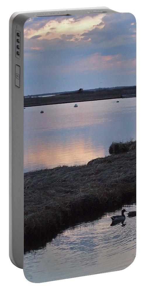 Ducks Portable Battery Charger featuring the photograph Nantucket Sunset by Susan Wyman