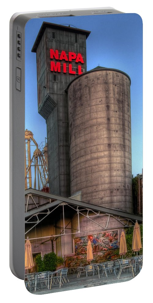 Mill Portable Battery Charger featuring the photograph Napa Mill II by Bill Gallagher