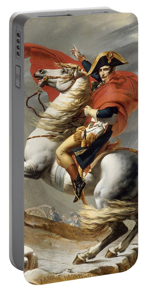 Napoleon Portable Battery Charger featuring the painting Napoleon Bonaparte On Horseback by War Is Hell Store
