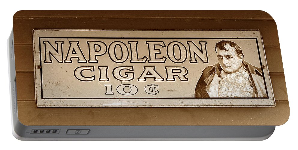 Ten Cent Cigar Portable Battery Charger featuring the photograph Napoleon Cigars by David Lee Thompson