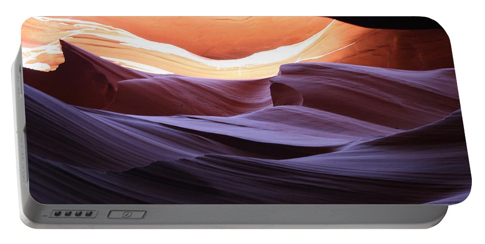 Canyon Portable Battery Charger featuring the photograph Narrow Canyon Xviii by Christiane Schulze Art And Photography