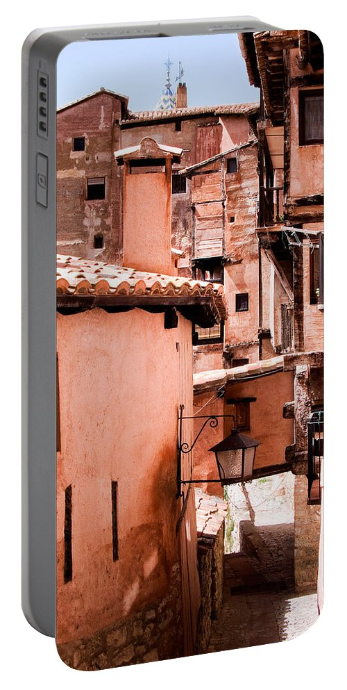 Albarracin Portable Battery Charger featuring the photograph Narrow Streets Of Albarracin by Weston Westmoreland