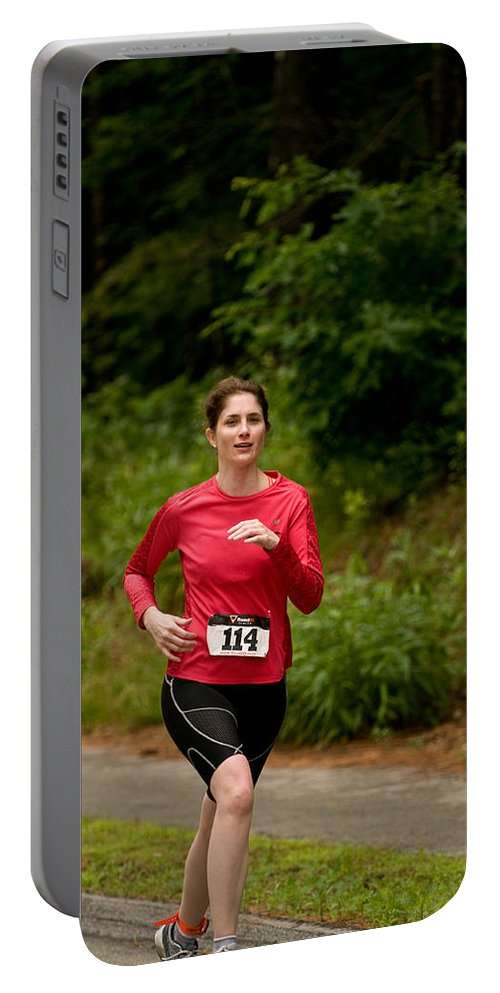 """""""nashua Sprint Y-triathlon"""" Portable Battery Charger featuring the photograph Nashua Sprint Y-tri 114 by Paul Mangold"""