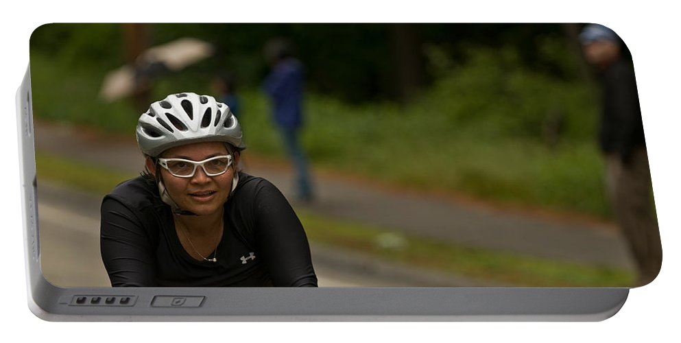 """""""nashua Sprint Y-triathlon"""" Portable Battery Charger featuring the photograph Nashua Sprint Y-tri 188 by Paul Mangold"""