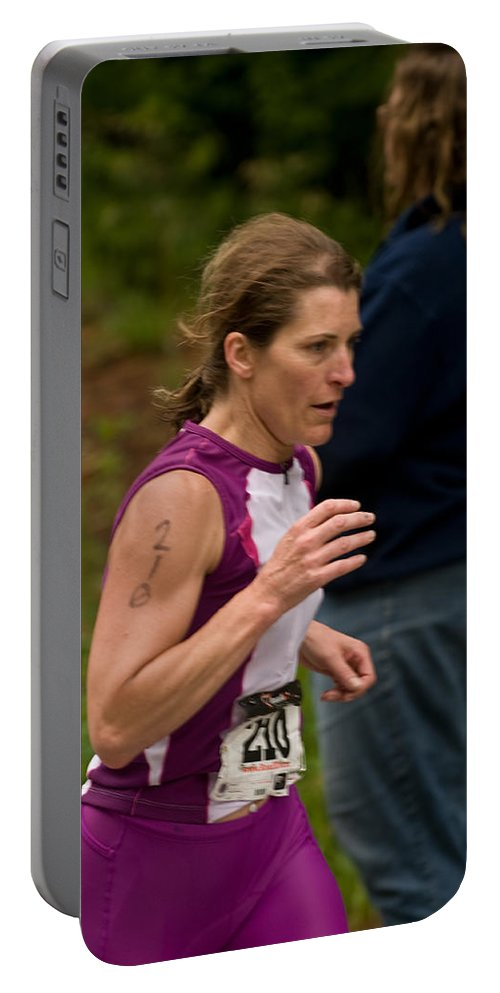 """nashua Sprint Y-triathlon"" Portable Battery Charger featuring the photograph Nashua Sprint Y-tri 210 by Paul Mangold"