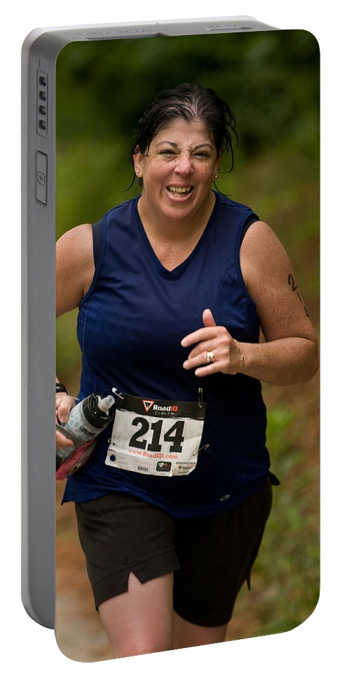 """""""nashua Sprint Y-triathlon"""" Portable Battery Charger featuring the photograph Nashua Sprint Y-tri 214 by Paul Mangold"""