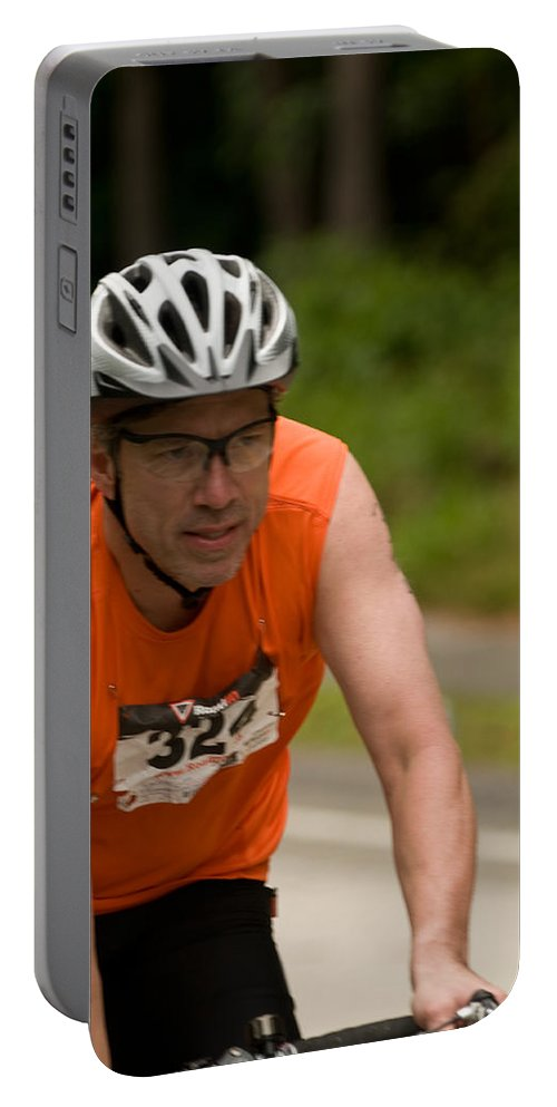 """""""nashua Sprint Y-triathlon"""" Portable Battery Charger featuring the photograph Nashua Sprint Y-tri 324 by Paul Mangold"""