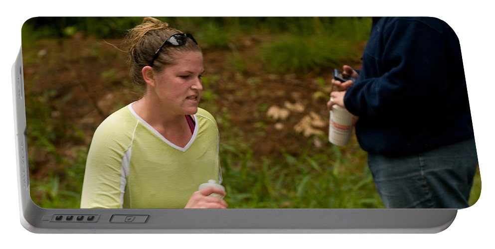 """""""nashua Sprint Y-triathlon"""" Portable Battery Charger featuring the photograph Nashua Sprint Y-tri 47 by Paul Mangold"""