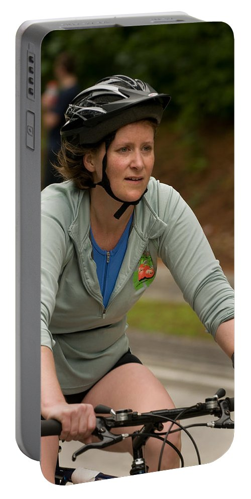 """nashua Sprint Y-triathlon"" Portable Battery Charger featuring the photograph Nashua Sprint Y-tri 56 by Paul Mangold"