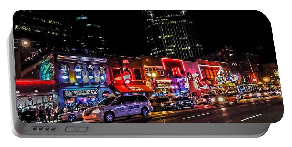 Broadway Portable Battery Charger featuring the photograph Nashville by Jessica Stiles