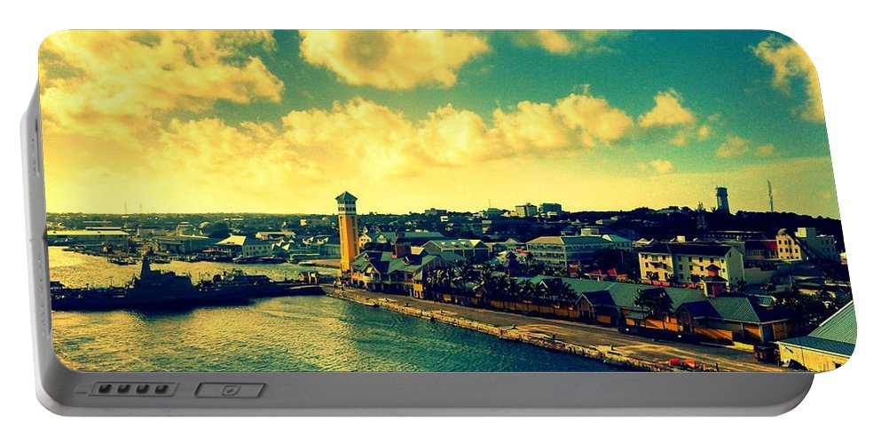 Sea Portable Battery Charger featuring the photograph Nassau The Bahamas by Paulo Guimaraes