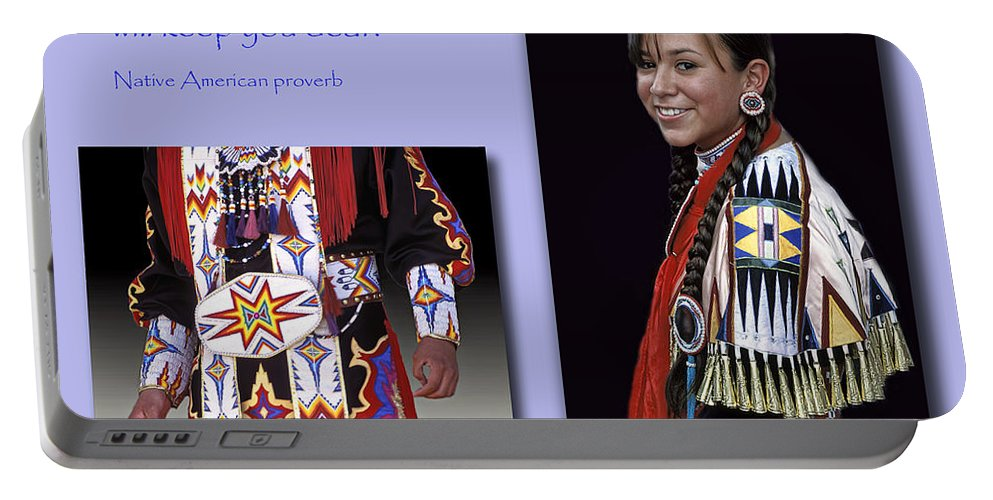 Native American Proverb Portable Battery Charger featuring the photograph Native American Proverb by Dave Mills