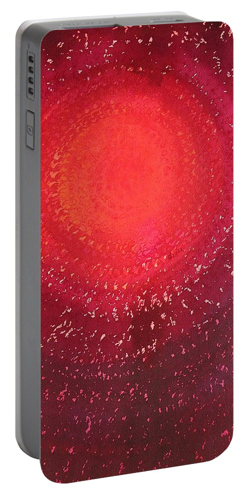 Sun Portable Battery Charger featuring the painting Native Sun Original Painting by Sol Luckman