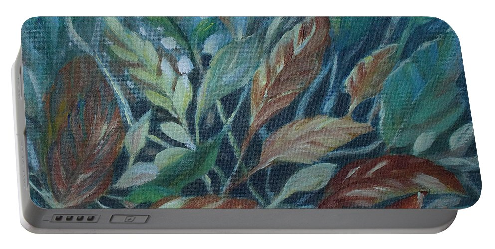 Leaves Portable Battery Charger featuring the painting Natural Beauty by Joanne Smoley