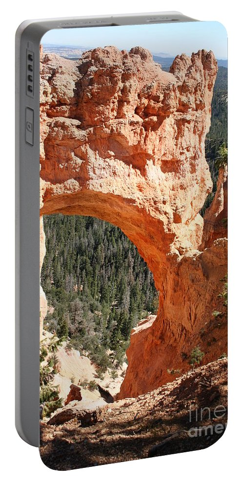 Bridge Portable Battery Charger featuring the photograph Natural Bridge Bryce Canyon by Christiane Schulze Art And Photography