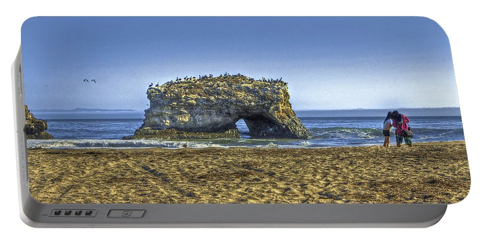 Beach Portable Battery Charger featuring the photograph Natural Bridges And Lovers by SC Heffner