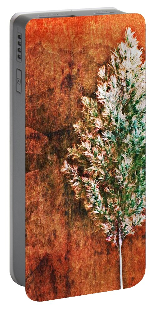 Nature Abstract Portable Battery Charger featuring the digital art Nature Abstract 48 by Maria Huntley