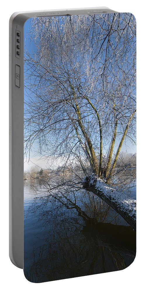 Blue Portable Battery Charger featuring the photograph Nature Landscape by Svetlana Sewell