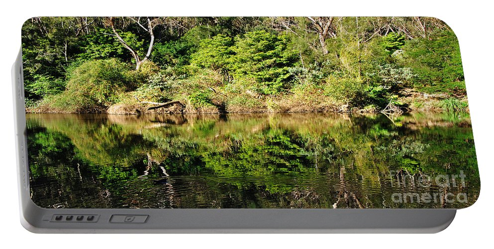 Photography Portable Battery Charger featuring the photograph Nature Mirrored by Kaye Menner