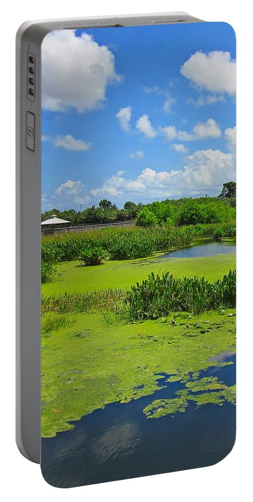 Wetland Portable Battery Charger featuring the photograph Nature Paradise by MTBobbins Photography