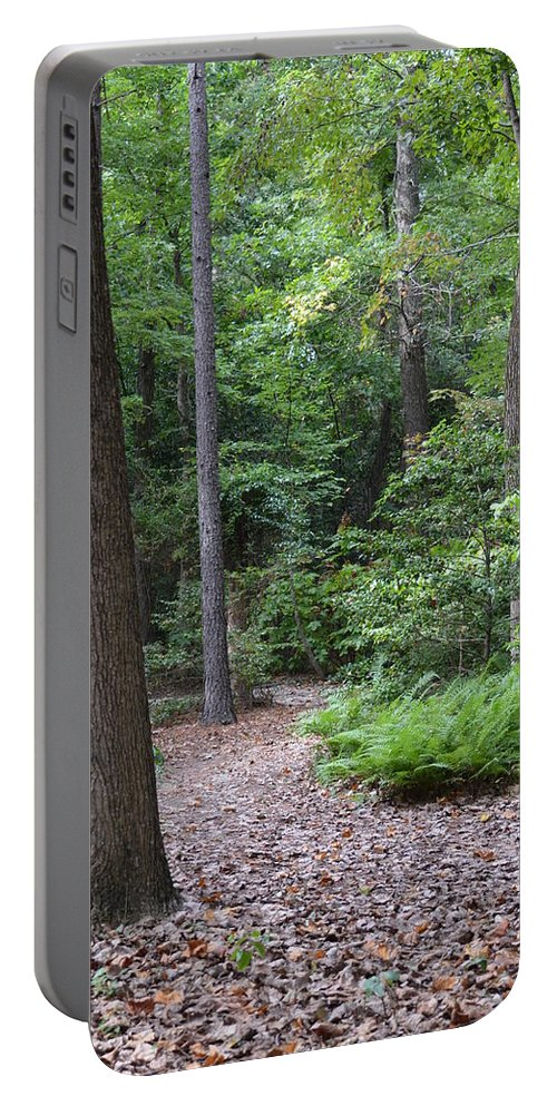 Nature Trail Portable Battery Charger featuring the photograph Nature Trail by Maria Urso